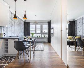 decoração apartamento pequeno com cores claras