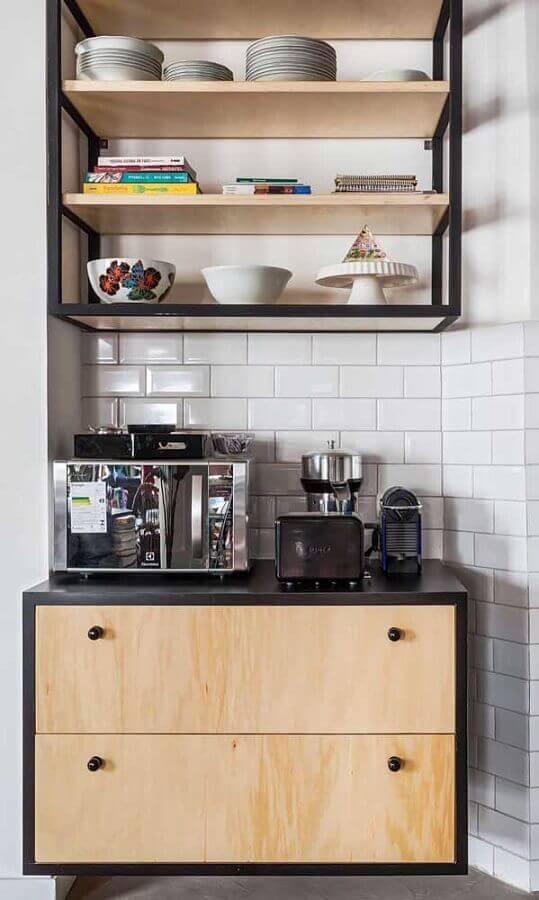 decoração cantinho do café com armário suspenso Foto Pinterest