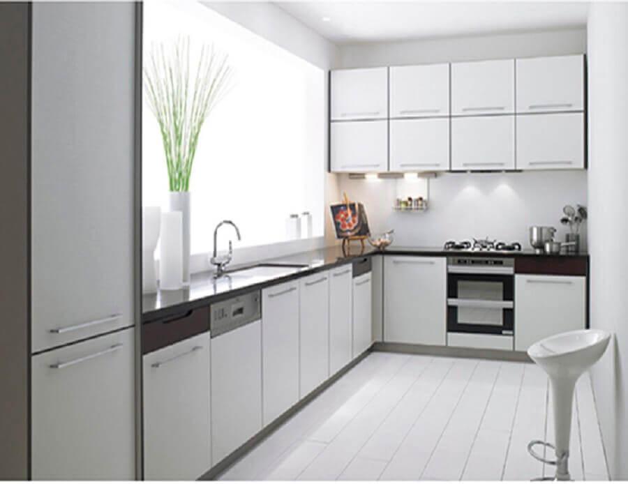 decoração clean com armário de cozinha modulado