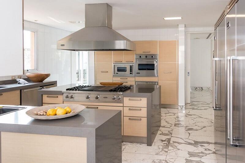 decoração clean com armário de cozinha planejado