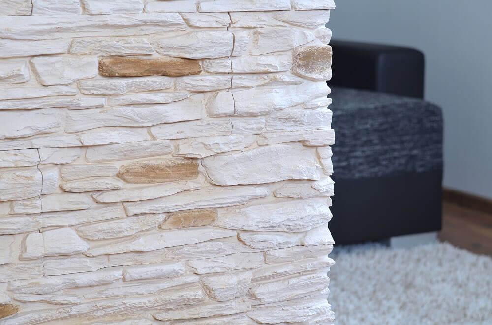 decoração contemporânea com revestimento em pedras