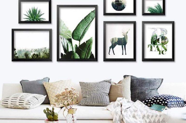decoração de parede para sala com quadros
