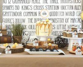 decoração festa de casamento com tema de harry potter