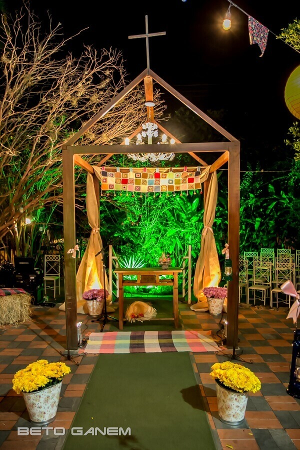 decoração festa de casamento com tema festa junina