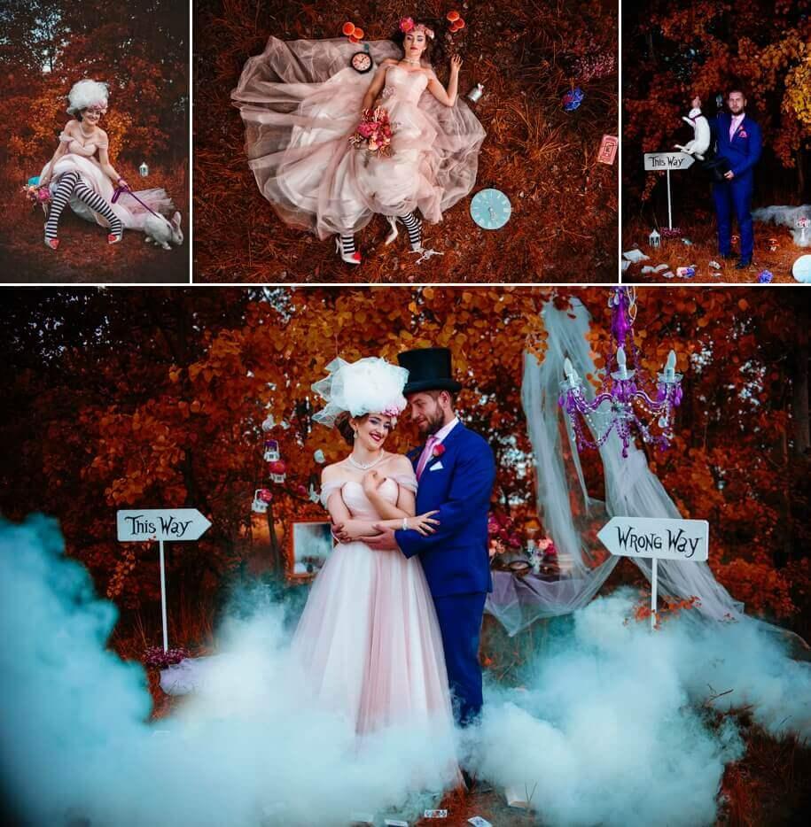 decoração para festa de casamento com tema de Alice