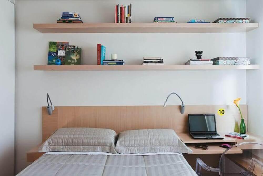 escrivaninha para quarto pequeno no lugar do criado mudo