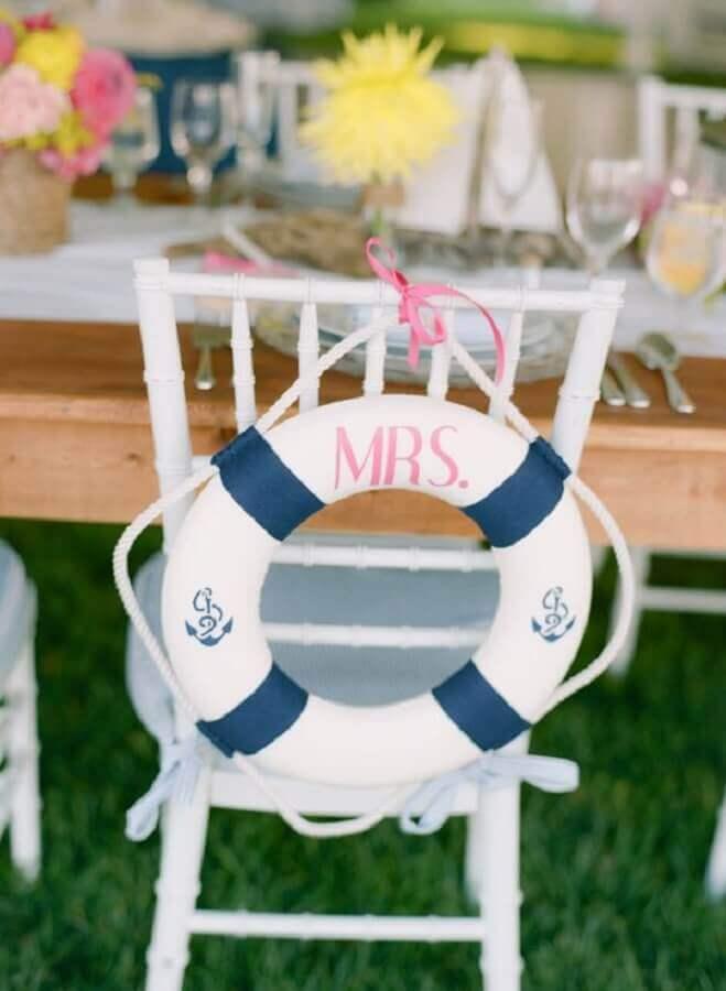 festa de casamento decorada com tema navy tema marinheiro para festa de casamento