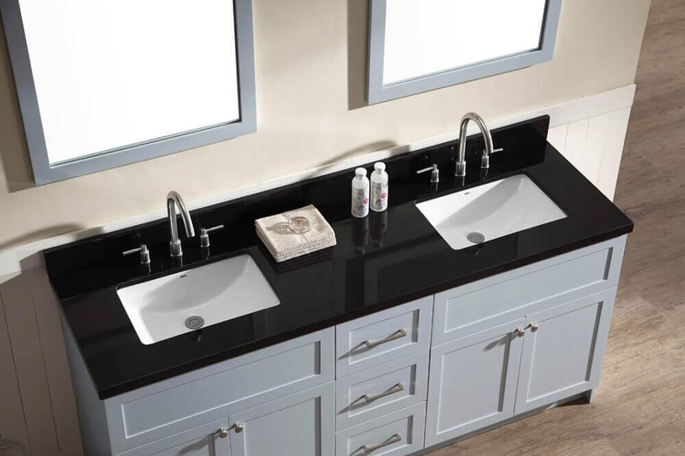 granito preto absoluto para bancada de banheiro