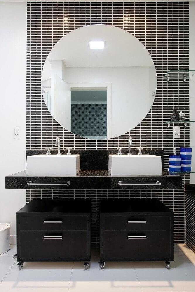 granito preto são Gabriel para banheiro simples decorado