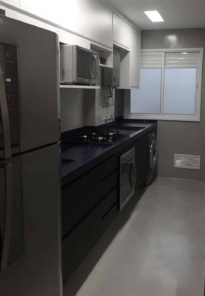 granito preto são gabriel para lavanderia preta