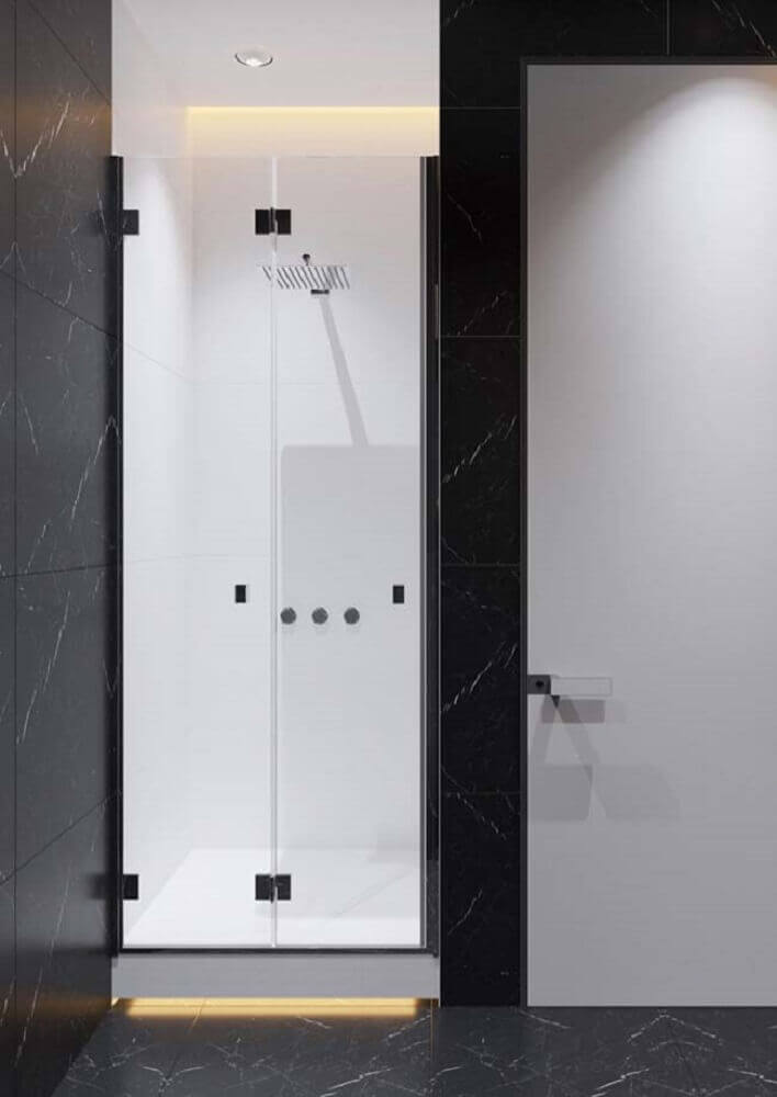 granito preto via láctea para banheiro