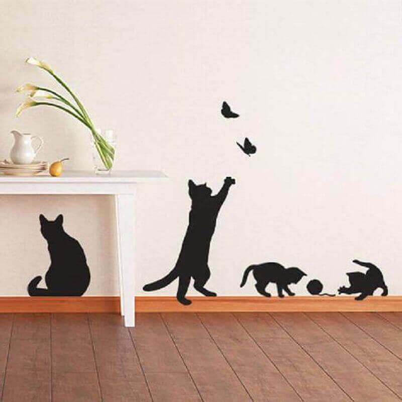 ideias para decorar paredes com adesivos divertidos