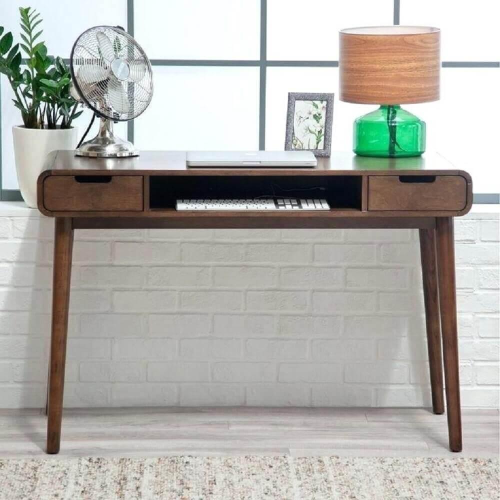modelo de escrivaninha simples e pequena de madeira