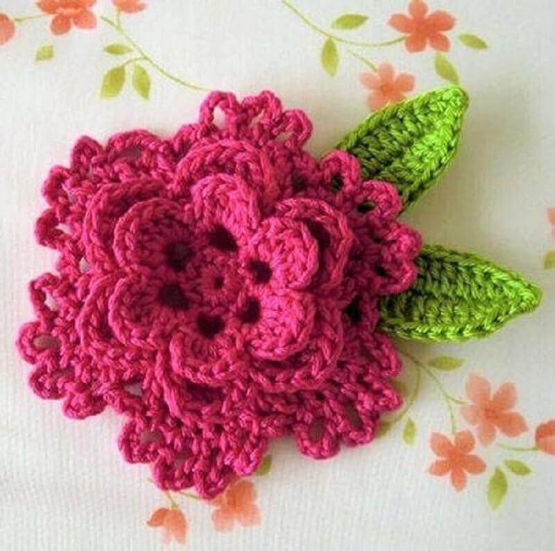 935a26068 modelo de flores e folhas de crochê para tapetes