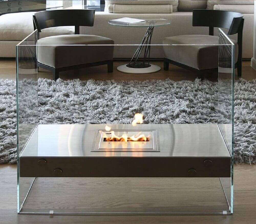 modelo de lareira portátil