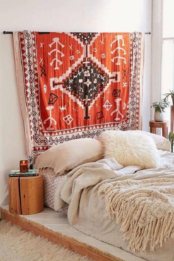 modelo de tecido para decoração de parede de quarto