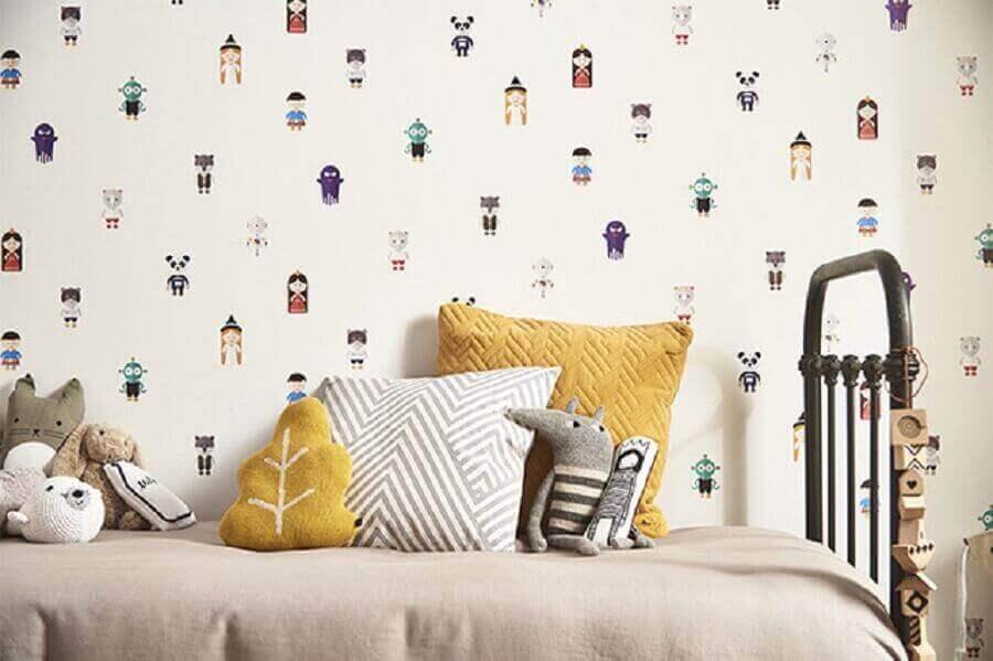 modelo infantil de papel de parede