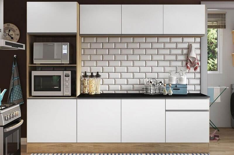 modelo simples de armário de cozinha pequeno
