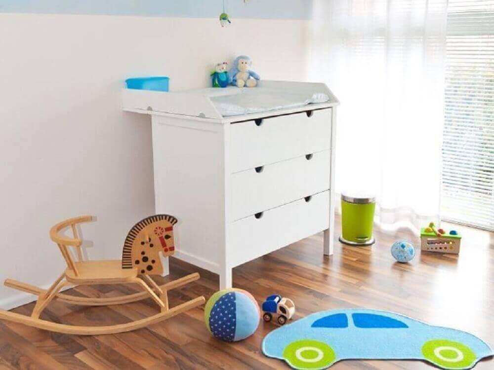 modelo simples de cômoda com trocador
