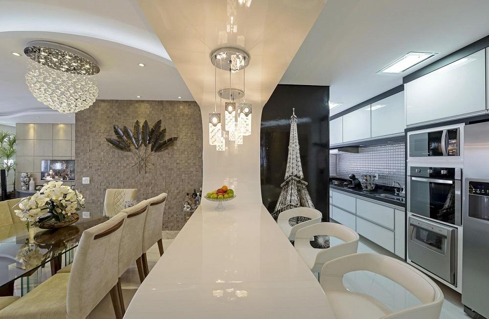 modelos de armários de cozinha americana