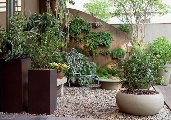 plantas para jardim feito com vasos