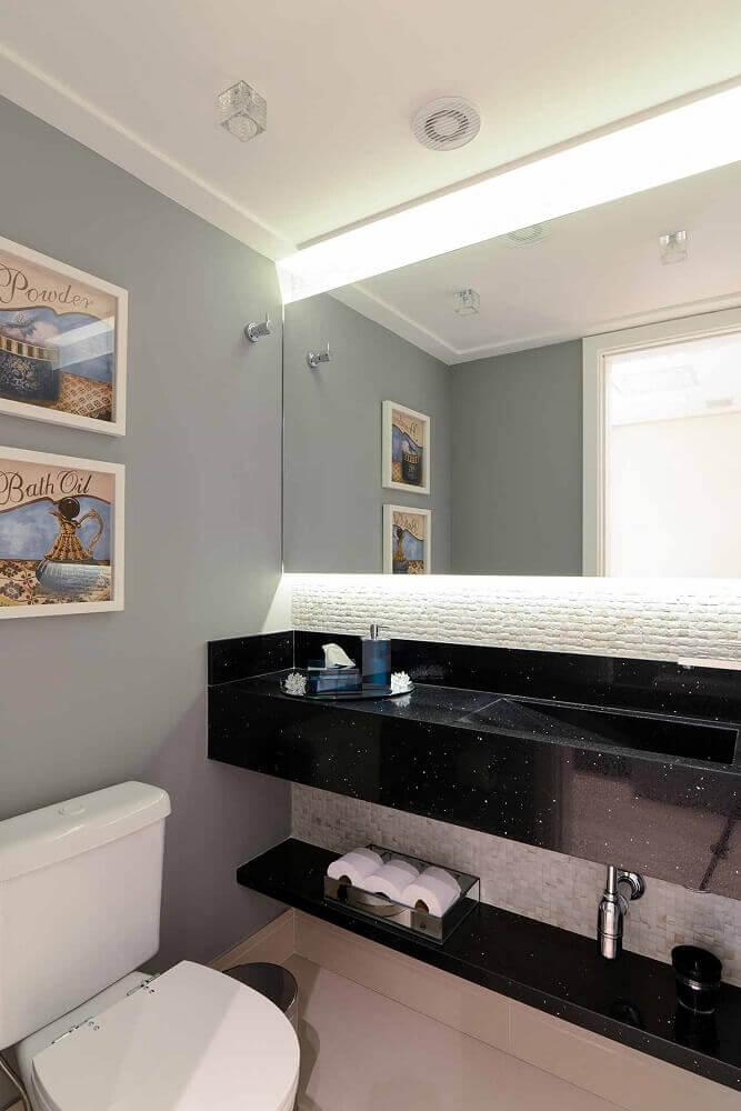 tipos de granito preto para banheiro