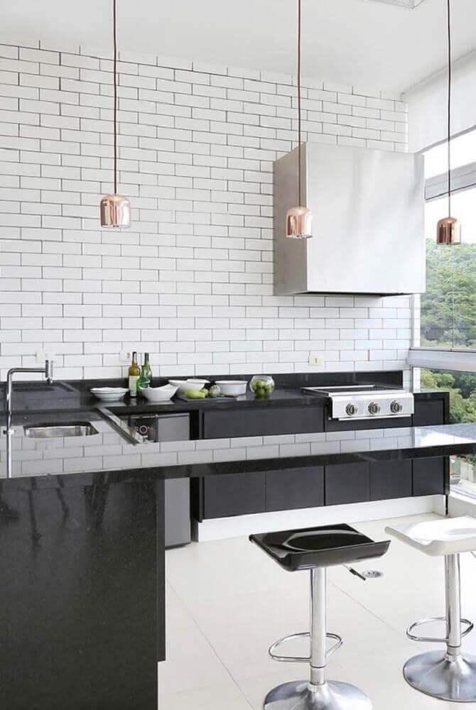 tipos de granito preto para cozinha decorada
