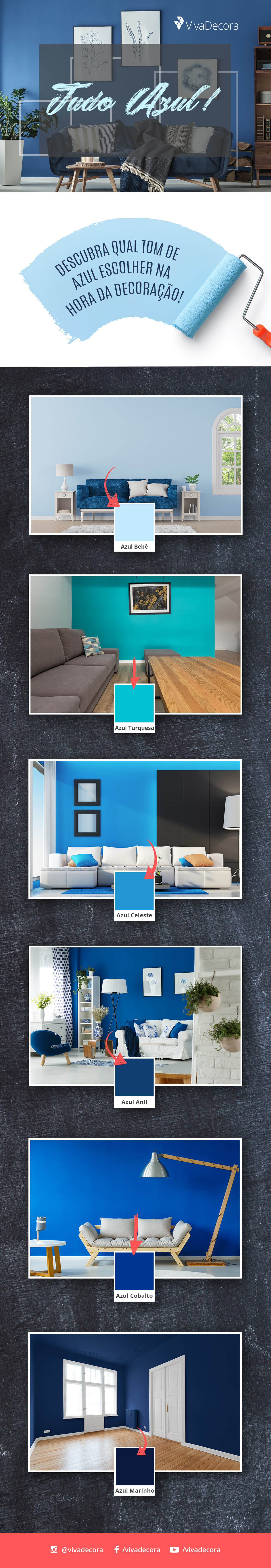 Infográfico - Tons de Azul
