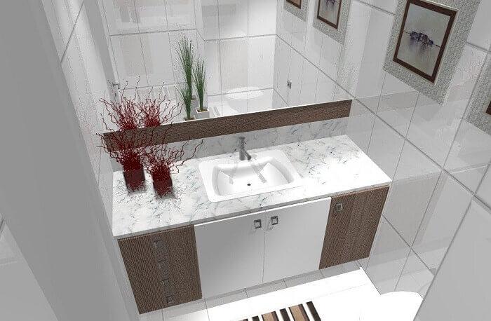 Armário de banheiro criado sob medida para o ambiente