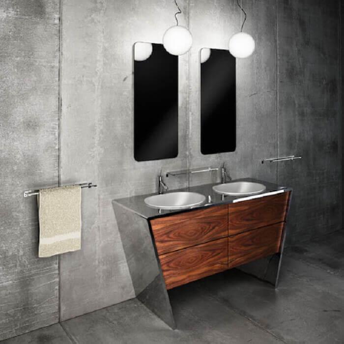Armário de banheiro criativo encanta a decoração desse ambiente