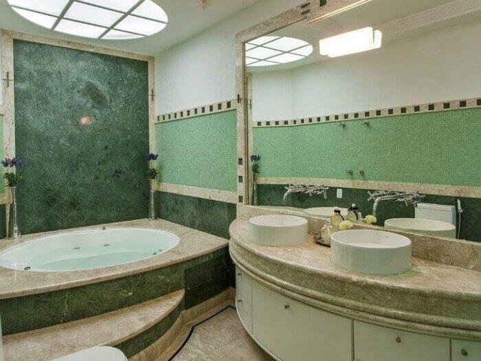 Armário de banheiro em meio lua suporte duas cubas