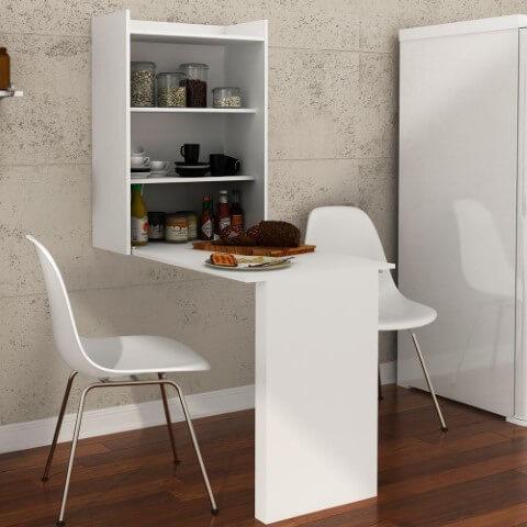Armário multiuso de parede com mesa para cozinha