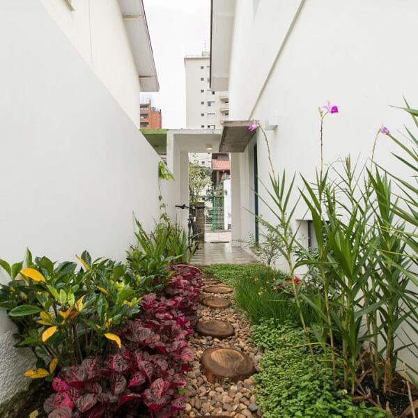 As pedras para jardim dão vida para o quintal da casa