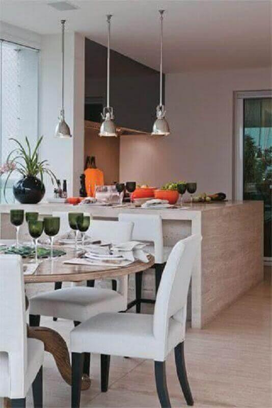 Bancada de mármore travertino para cozinha moderna - Pinterest