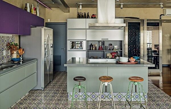 Banquetas para cozinha baixas. cozinha menor