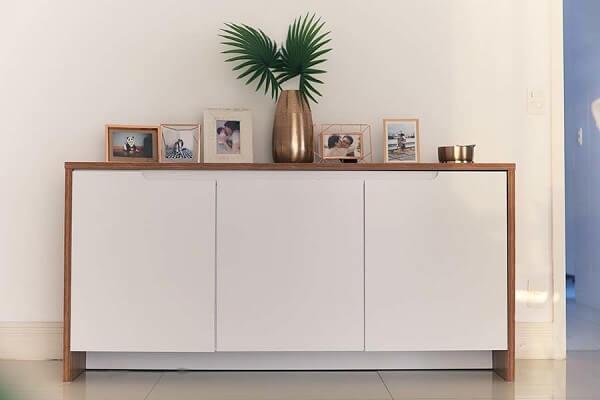 Buffet para sala de jantar em tom branco