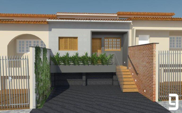 Casa de alvenaria geminada Projeto de Lucas Gurgel