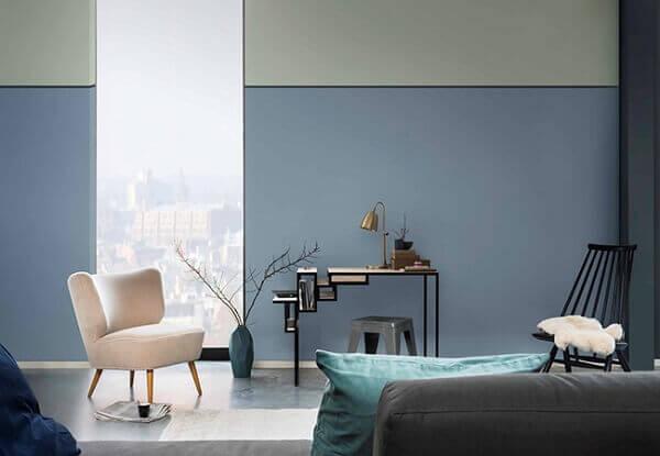 Cores para sala azul claro