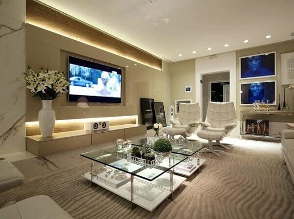 Cores para sala de tv grande