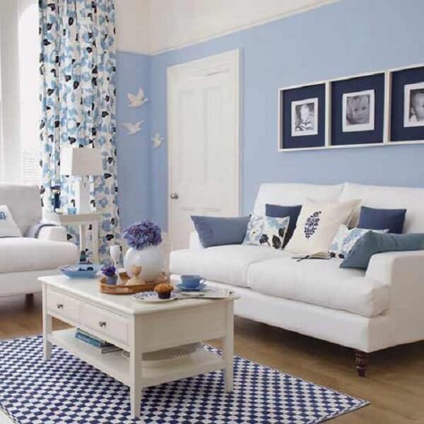 Cores para sala em azul claro