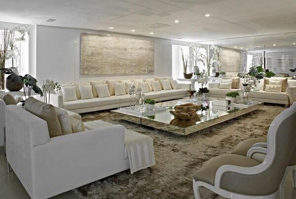 Cores para sala grande e luxuosa