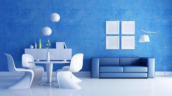 Cores para sala na cor azul