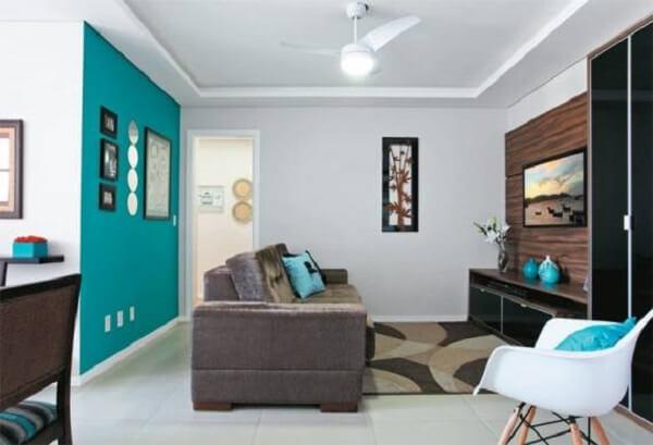 Cores para sala parede azul