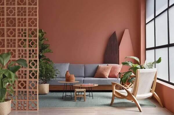 Cores para sala rosa claro