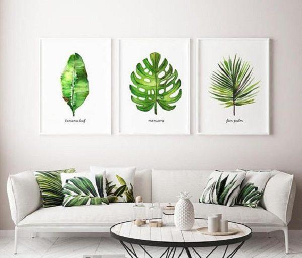 Os quadros grandes para sala de estar trazem um toque da natureza para o ambiente. Fonte: Bugre