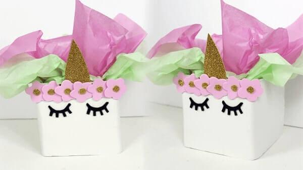 Festa de unicórnio caixas de lembrancinhas