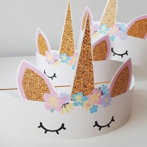 Festa de unicórnio chapéu