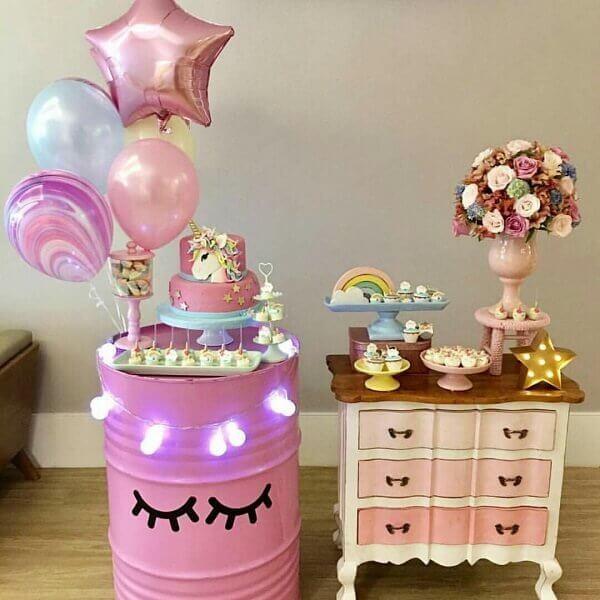 Festa de unicórnio ideias de decoração