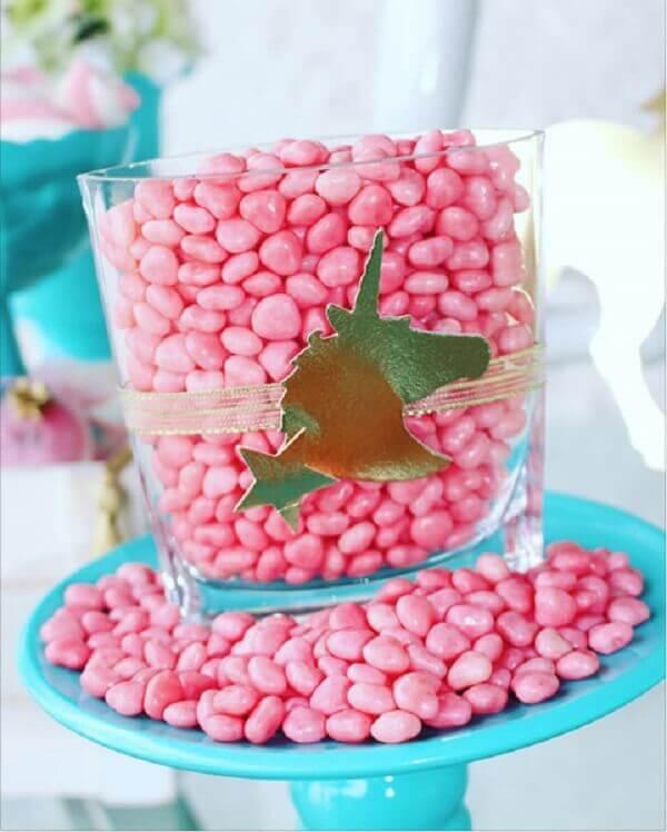 Festa de unicórnio potinho para doces