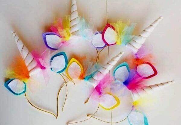 Festa unicornio tiarinhas